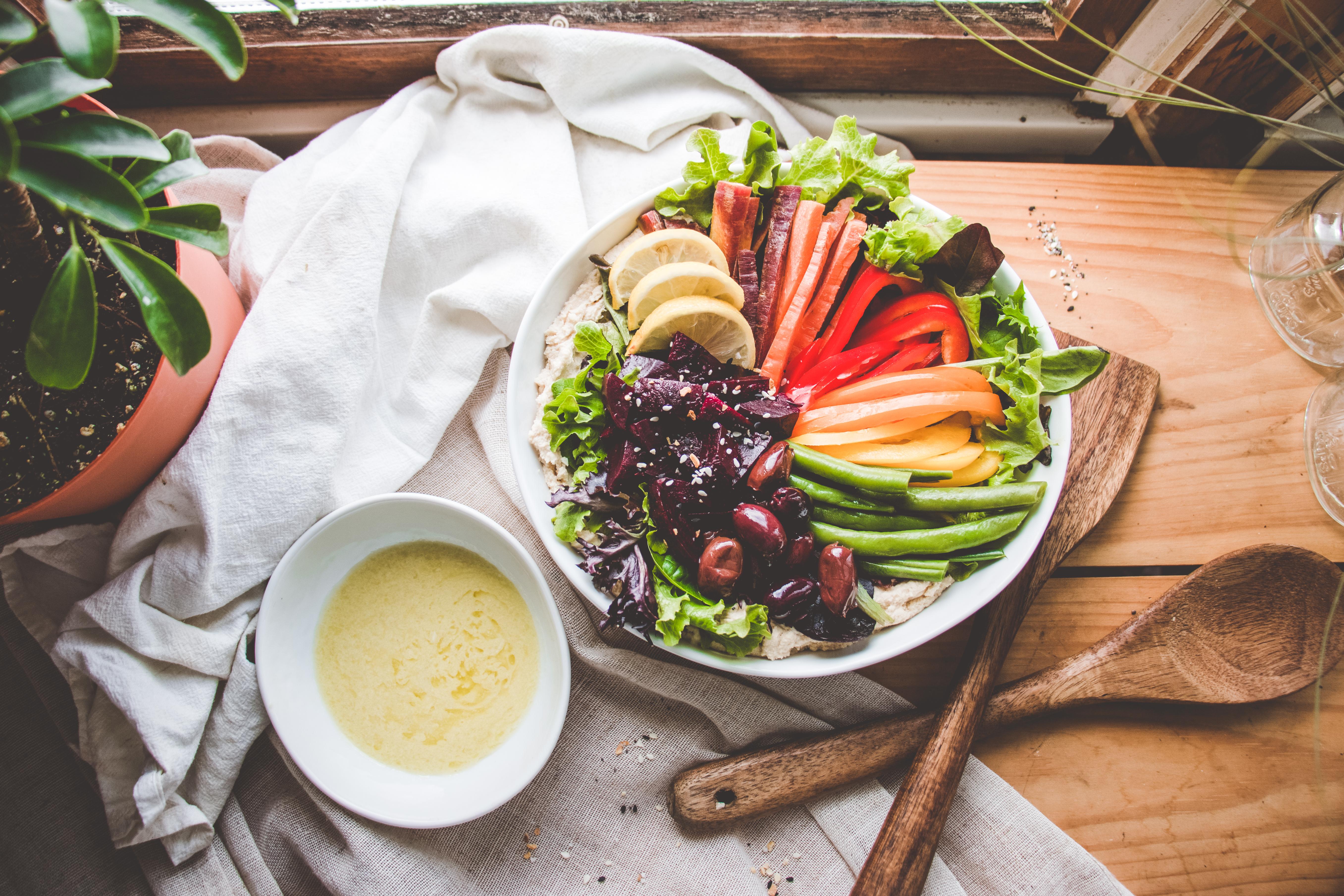 Rainbow Hummus Salad Bowl