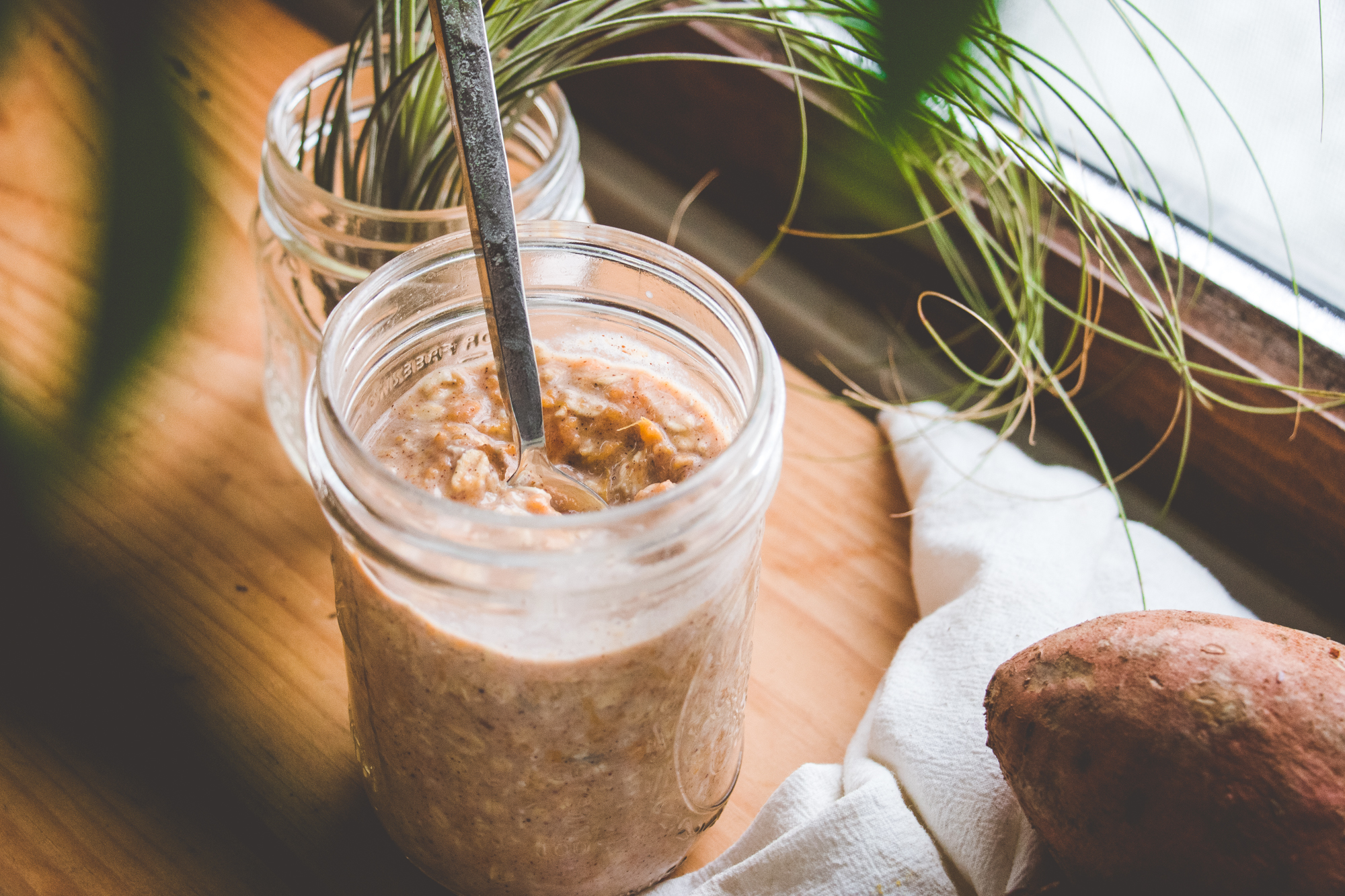 Sweet Potato Maca Overnight Oats