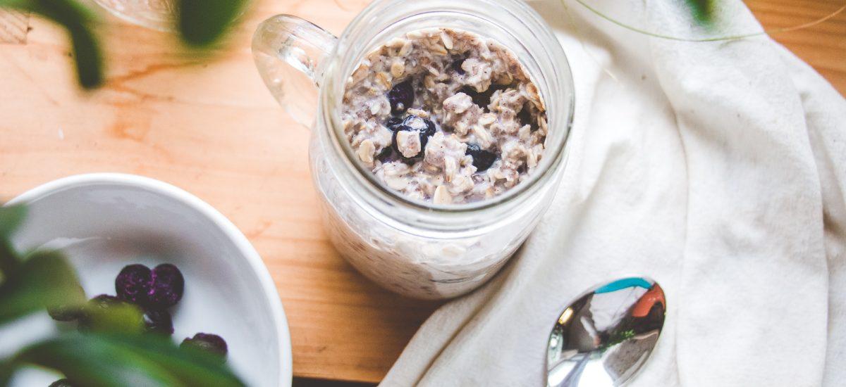 Blueberry-Almond Butter Overnight Oats