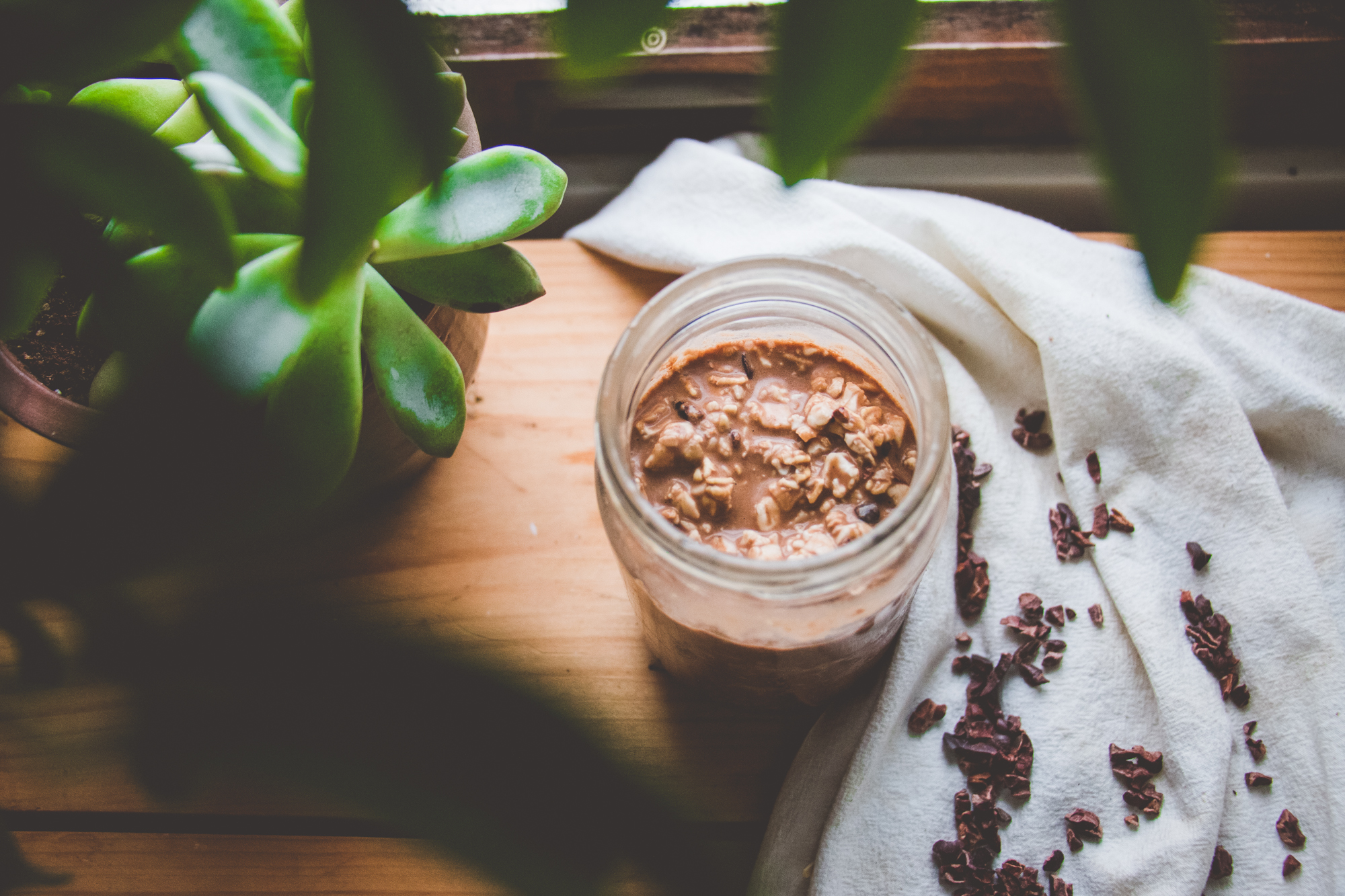 Chocolate Avocado Overnight Oats