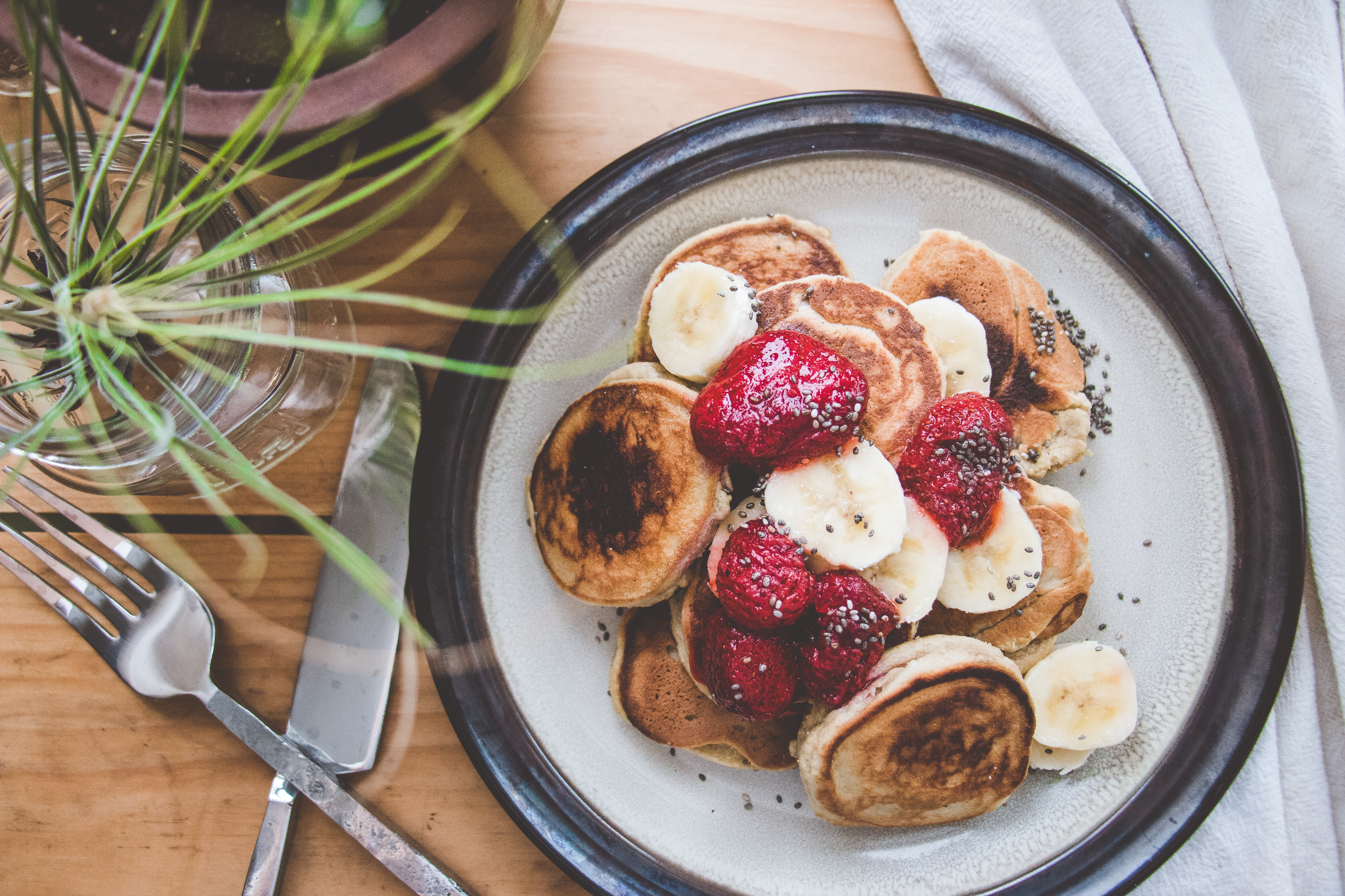Fluffy Cashew Pancakes