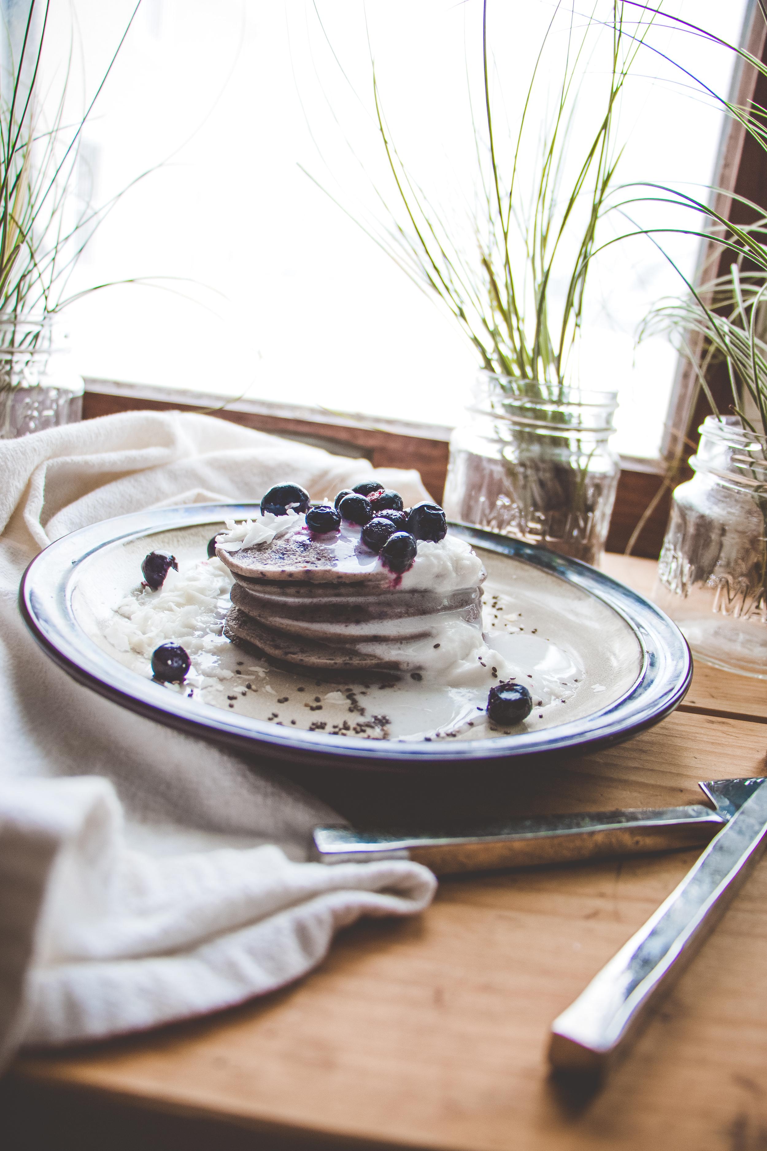 Blueberry-Coconut Pancakes