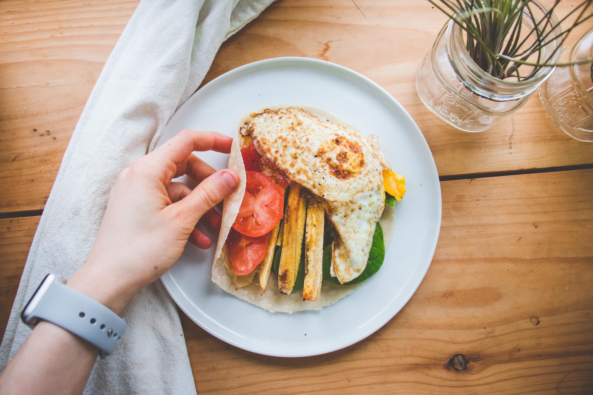 Plantain & Egg Sandwich Wraps